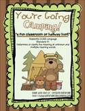 You're Going Camping- Classroom or Hallway Homophone Hunt CCSS L.4