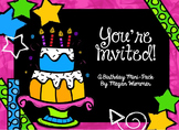 You're Invited Birthday Printables Pack for Pre-K, Kinderg