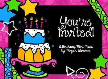 You're Invited Birthday Printables Pack for Pre-K, Kinderg