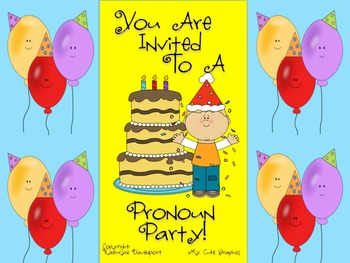 You're Invited To a Pronoun Party!