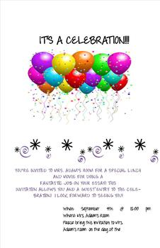 You're Invited to a celebration Invitations