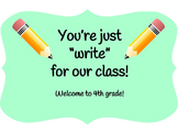 "You're Just ""Write"" for Our Class pencil topper"