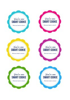 photograph about You're One Smart Cookie Printable referred to as Youre A person Intelligent Cookie Tag Worksheets Instruction Products TpT
