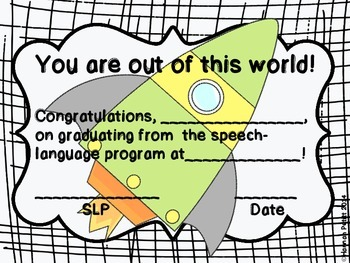 You're Out of this World! Speech Certificate
