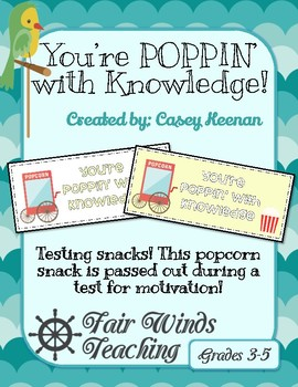 You're POPPIN' with Knowledge - testing snacks