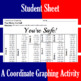 You're Safe - A Baseball Coordinate Graphing Activity