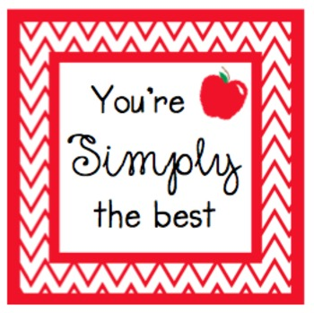You're Simply The Best Gift Tags