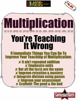Multiplication: You're Teaching It Wrong (and you really don't have to...)