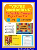 """You're Wonderful"" Digital Download of Song of Self Esteem (for PK/K Graduation)"