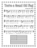 """You're a Grand Old Flag"" Printable Song Sheet"