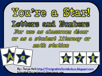 You're a Star Letters and Numbers {FREEBIE}