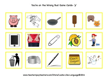 Phonics Beginning Sounds Picture Game- Reading, Speech, Special Ed