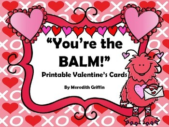 picture about You're the Balm Free Printable called Youre The Balm Worksheets Education Components TpT
