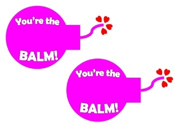 photo relating to You're the Balm Printable referred to as Youre the BALM Printable Valentine Playing cards