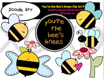 You're the Bee's Knees Clipart Pack