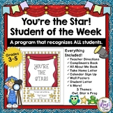 You're the Star Student of the Week Recognition Program NO Prep (Editable)