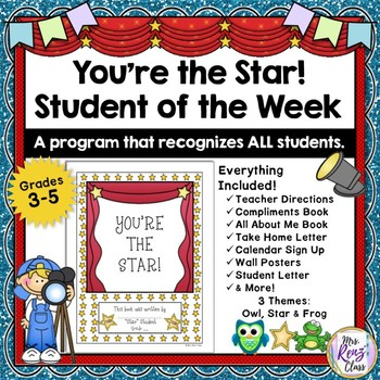 You're the Star Student of the Week Recognition Program NO