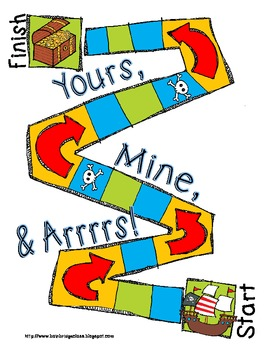 Yours, Mine, and Arrrrs- Pirate possessive pronoun pack- 3rd grade CCSS 3.L.1a