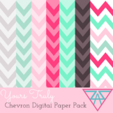 Yours Truly, Chevron Digital Paper Pack