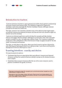 Yourtown Economics and Business -  Consumer Decision Factors (Year 5)