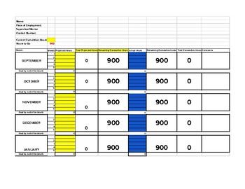 Youth Apprenticeship Hourly Tracking Form