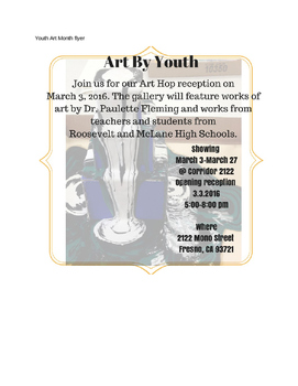 Youth Art Month Student flyer