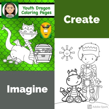 Color Pages for Youth: Dragons