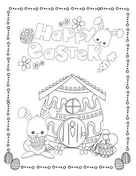 Coloring Pages for Youth: Easter