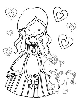 Youth Coloring Pages: Princess