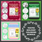 Youth Holiday Coloring Page Bundle: Valentine's Day, St. Patrick's Day & Easter