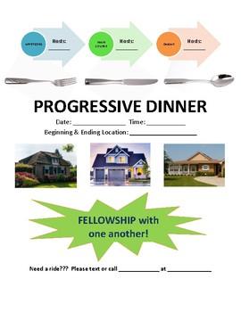Youth Progressive Dinner Flyer