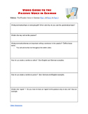 (GERMAN LANGUAGE) The Passive Voice in German Video Guide