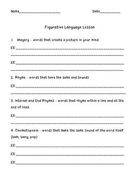 Figurative Language Lesson