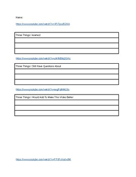 Youtube videos worksheets for elements compounds and mixtures.