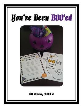 You've Been BOO'ed!  A Fun Halloween Activity