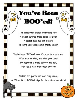 photograph about You've Been Booed Printable Pdf named Youve Been BOOed! A Exciting Halloween Game