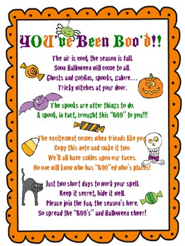 photo regarding You've Been Booed Printable Pdf known as Youve Been Bood Halloween Pleasurable FREEBIE