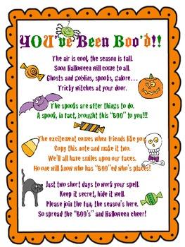 photo regarding You've Been Booed Printable Pdf referred to as Youve Been Bood Halloween Pleasurable FREEBIE