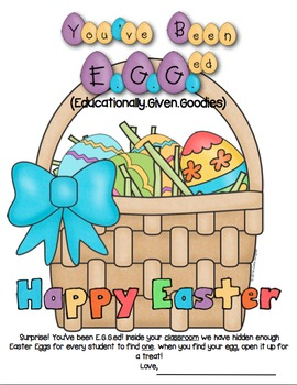 Easter Writing - You've Been E.G.G.ed!