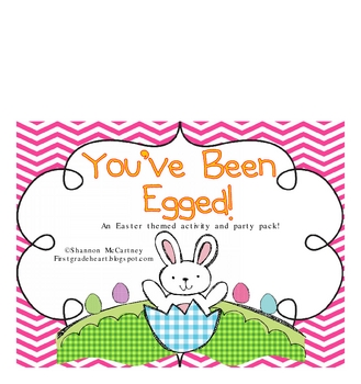 picture regarding You've Been Egged Printable named Youve Been Egged- Math and Literacy Things to do