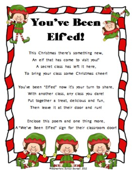 picture relating to You've Been Elfed Free Printable named Youve Been Elfed - A Exciting Xmas Sport