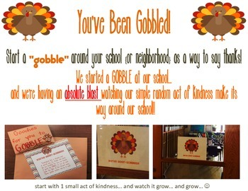 You've Been Gobbled - Act of Kindness Kit for November