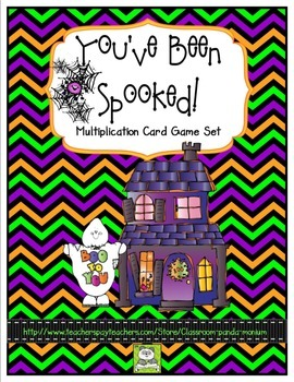 Multiplication Card Game: Halloween Theme