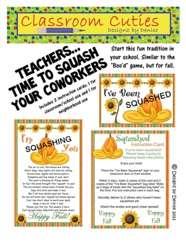You've Been Squashed Fall Game Printables For Staff