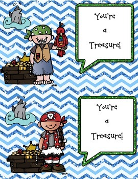 You're a Treasure {Pirate Themed Positive Behavior Postcard}