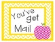 You've Got Mail Freebie {Chevron Colors}