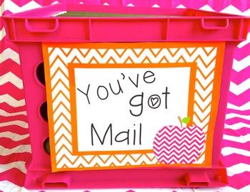 You've Got Mail Freebie {Chevron Colors}