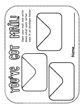 You've Got Mail! - Community Helpers Mail Carrier Writing Worksheet