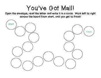 You've Got Mail Letter Identification Activity
