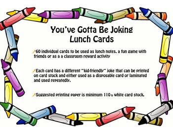 You've Gotta Be Joking - Kid-Friendly Joke Cards